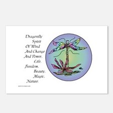 BRIGHT DRAGONFLY SPIRIT Postcards (Package of 8)