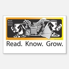 Read.Know.Grow. Decal
