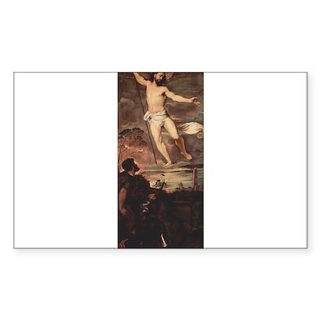 Altarpiece of the Resurrectio Sticker (Rectangle)