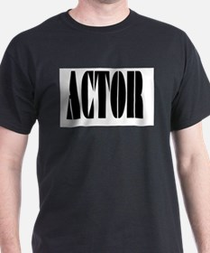 Actor Black T-Shirt