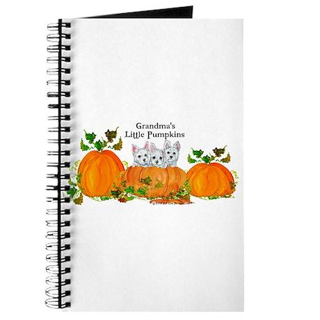 Grandma's Westie Pumpkin Puppy Dogs Journal