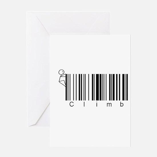 Bar Code Climb Greeting Card