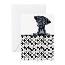 Black Lab Diamond Greeting Cards (Pk of 10)