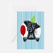 Black Lab Lover Birthday Greeting Cards (Pk of 10)