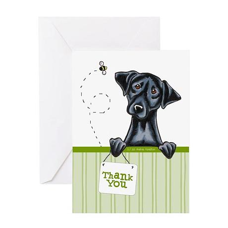 Black Lab Cute Thank You Greeting Card