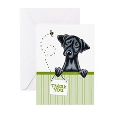 Black Lab Cute Thank You Greeting Cards (Pk of 10)