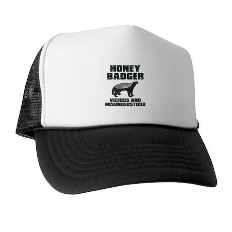 Honey Badger Vicious & Misunderstood Trucker Hat