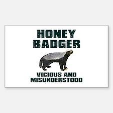 Honey Badger Vicious & Misunderstood Decal