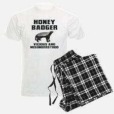 Honey Badger Vicious & Misunderstood Pajamas