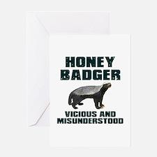 Honey Badger Vicious & Misunderstood Greeting Card