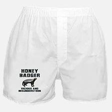 Honey Badger Vicious & Misunderstood Boxer Shorts