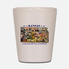 Images of Kansas, Celebrating Shot Glass