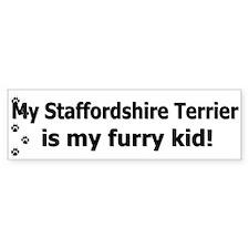 Staffordshire Terrier Furry Kid Bumper Bumper Sticker