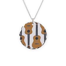 ukulele Necklace Circle Charm