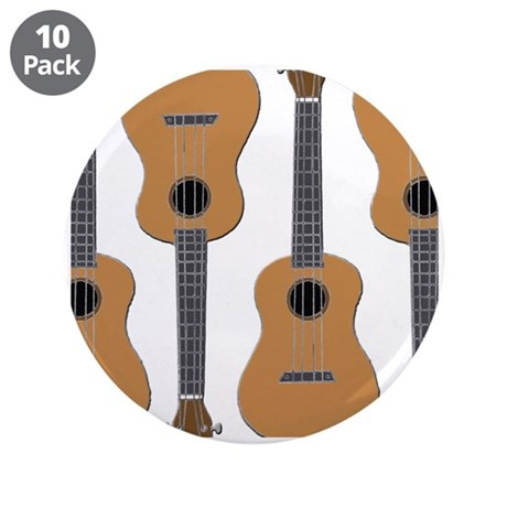 "ukulele 3.5"" Button (10 pack)"