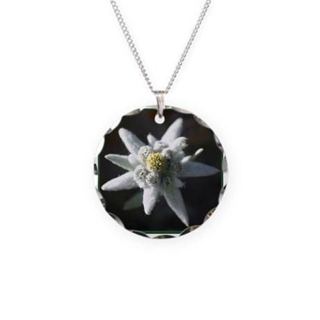 Edelweiss Necklace Circle Charm