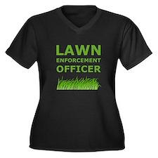 Lawn Enforcement Officer Women's Plus Size V-Neck