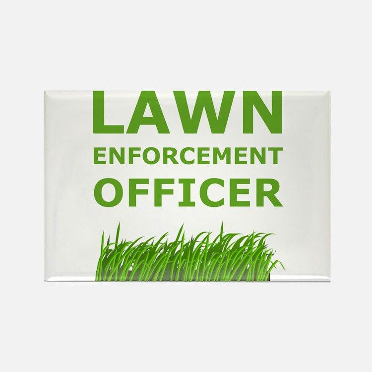 Lawn Enforcement Officer Rectangle Magnet