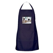 The Pugs Make the Rules Apron (dark)