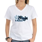 Training Ninja Women's V-Neck T-Shirt