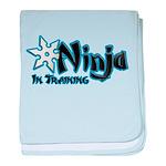 Training Ninja baby blanket