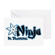 Training Ninja Greeting Card