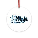 Training Ninja Ornament (Round)