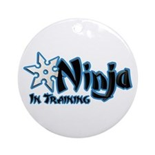 Training Ninja Ornament (Round)