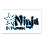 Training Ninja Sticker (Rectangle 50 pk)