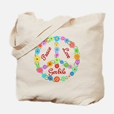 Peace Love Gerbils Tote Bag
