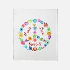 Peace Love Gerbils Throw Blanket