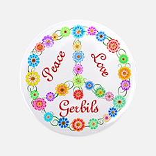 "Peace Love Gerbils 3.5"" Button (100 pack)"