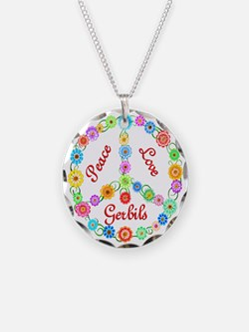 Peace Love Gerbils Necklace