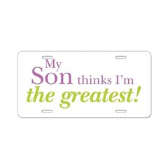 My Son Aluminum License Plate