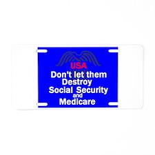 Social Security Aluminum License Plate
