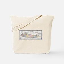 Vintage Map of Long Island New York (1857 Tote Bag