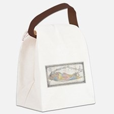 Vintage Map of Long Island New Yo Canvas Lunch Bag