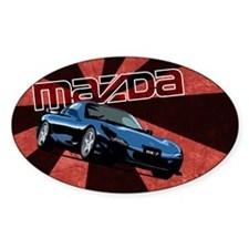MazdaRX7 Rectangular Bumper Stickers