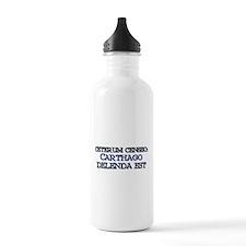 """""""Ceterum Censeo: Carthago"""" Water Bottle"""
