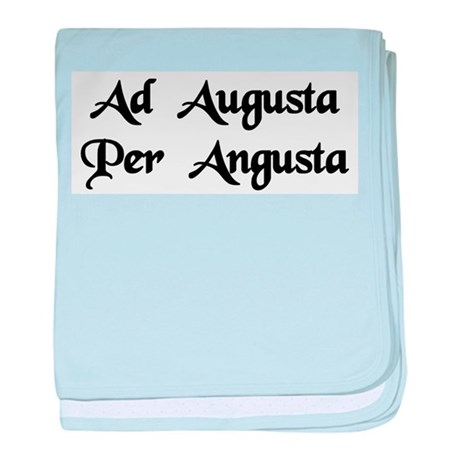 """Ad Augusta Per Angusta"" baby blanket"
