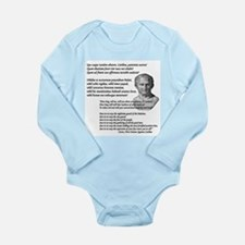 """Quo Usque Tandem..."" Long Sleeve Infant Bodysuit"
