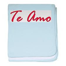 """""""Te Amo"""" baby blanket"""