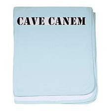 """Cave Canem """"Beware of Dog"""" baby blanket"""