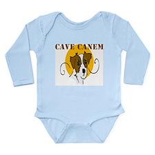 Cave Canem (Jack Russell) Long Sleeve Infant Bodys