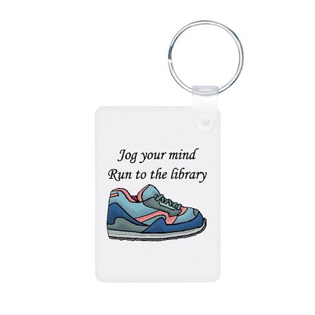 """""""Jog Your Mind"""" Aluminum Photo Keychain"""