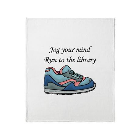 """Jog Your Mind"" Throw Blanket"