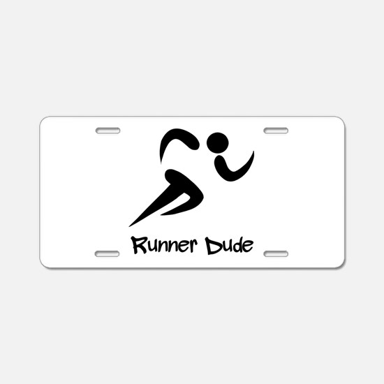 Runner Dude Aluminum License Plate