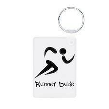 Runner Dude Aluminum Photo Keychain