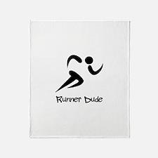 Runner Dude Throw Blanket