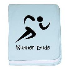 Runner Dude baby blanket